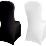 Black and White lycra chair covers £1.10