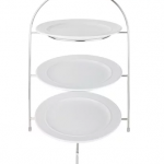 "Three tier sandwich/cake stand 10"" plates included £5.00"